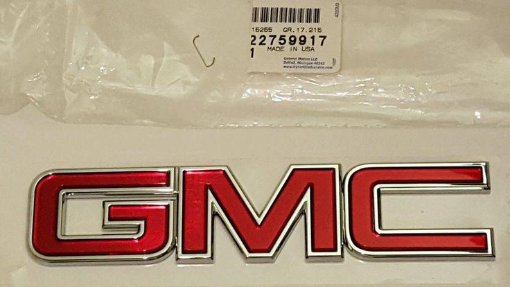 "NEW GM TAIL GATE EMBLEM ""GMC"" 14+ SIERRA 1500,15+SIERRA 2500 3500 GM#22759917 #GM"