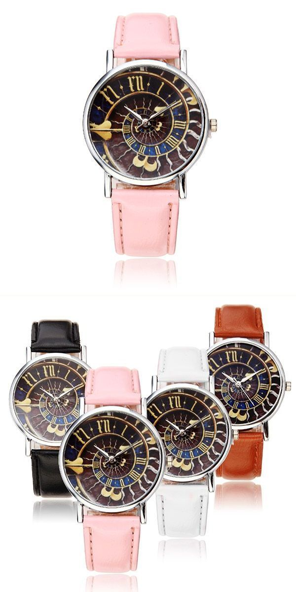 Casual women special symbols pattern pu leather band analog quartz wrist watch korean ulzzang fashion style #4. #http #//jk-style-fashion.com #fashion #style #genres #fashion #style #ng #jamie #t #fashion #style