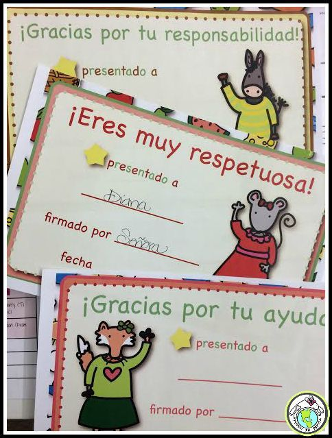 End of the Year Awards Certificates in Spanish. Celebrate your students with these printable awards certificates! Mundo de Pepita, Resources for Teaching Spanish to Children