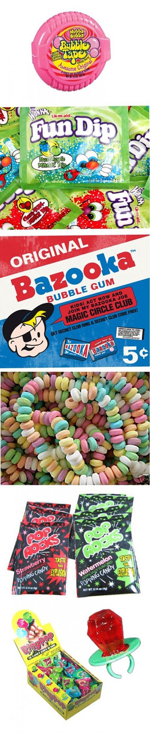 all the bad ass candy of the nineties and early two thousands.  haha  miss my childhood fo sho