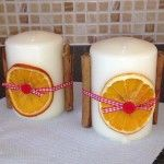 Festive Cinnamon and Orange Candles