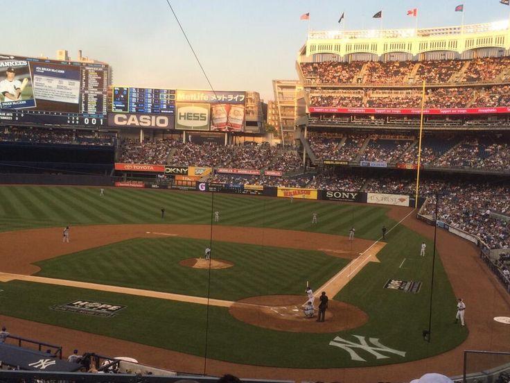 New York Yankees baseball game at Yankee Stadium in New York, NY.