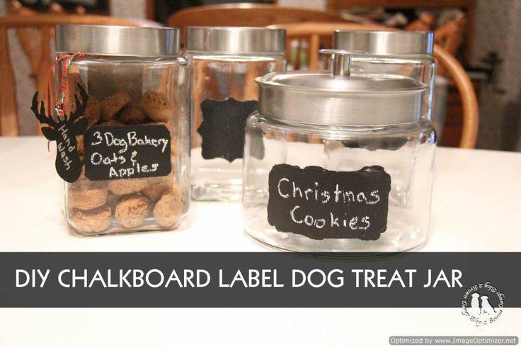 DIY Chalkboard Label Dog Treat Jar