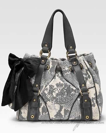 Juicy Couture Python Day Dreamer Velour Tote