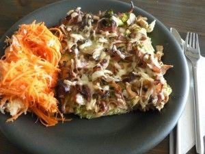 LCHF Broccoli- och skinkomelett
