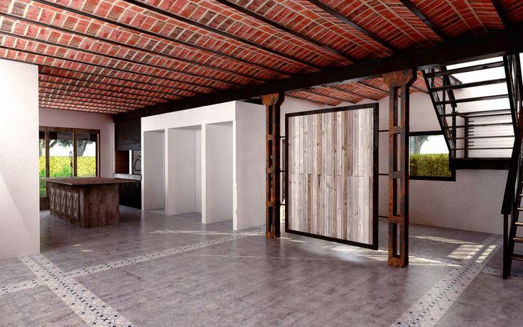 working in new #spaces in a #loft #interior #architecture & #design 4 #archilovers & #archihunters #designer #disegno #diseño #steel #brick & #wood