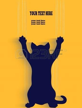 silhouette d une rayure chat fond avec place pour votre texte Banque d'images