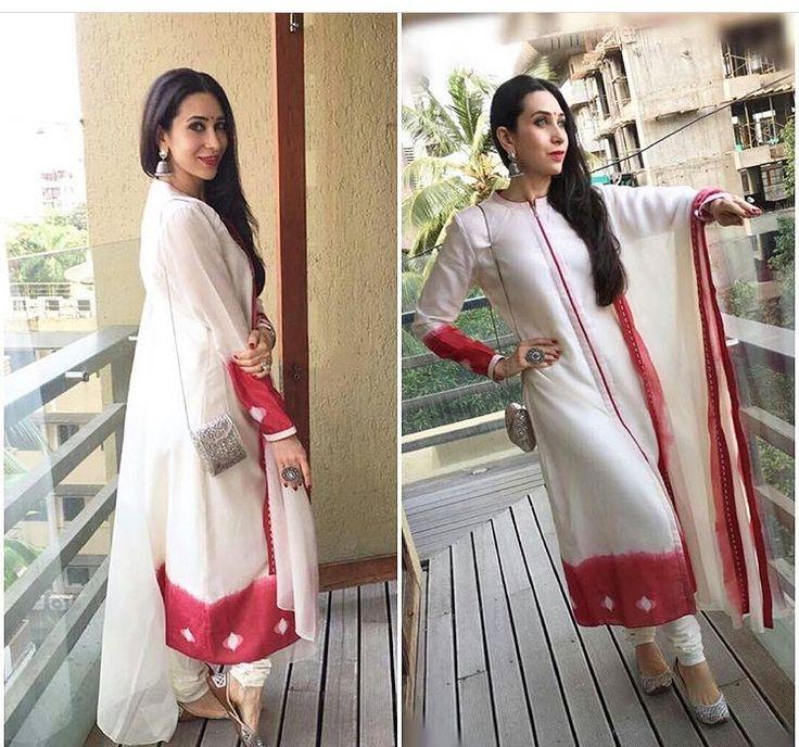 Karisma Kapoor # suit # white love