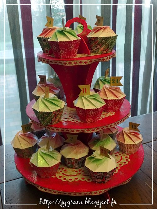 Calendrier de l 39 avent en boites cupcake advent calendar for Pinterest calendrier de l avent