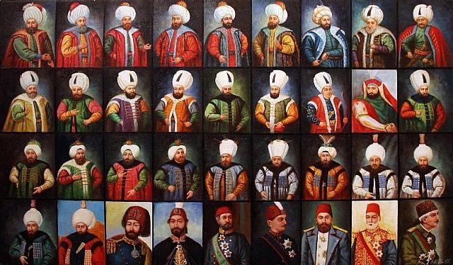 Osmanlı padişahları...