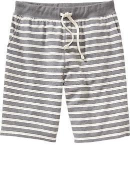 "Mens Striped Terry-Fleece Shorts (10"")"
