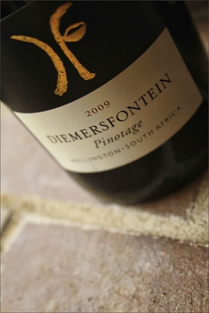 Diemersfontein Pinotage 2011.  Amazing chocolate/coffee pinotage. My second most favorite wine at the moment.