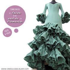 Cómo hacer la falda de un vestido de flamenca #DIY