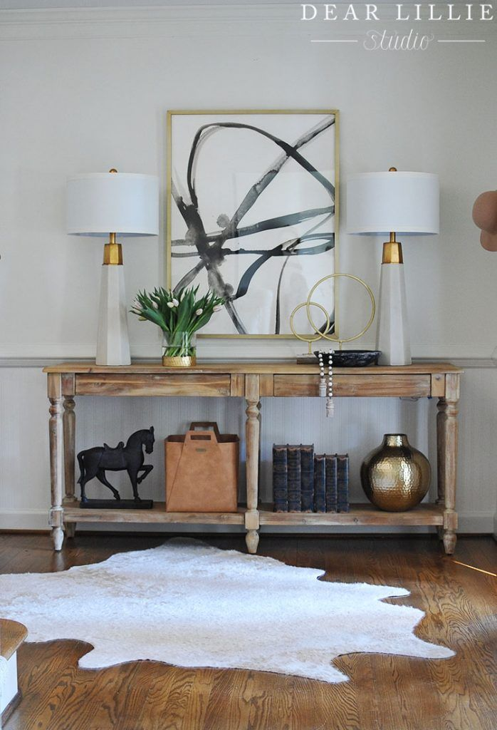 Styling A Console Table Two Ways Dear Lillie Studio Home Decor Console Table Styling Bedroom Night Stands
