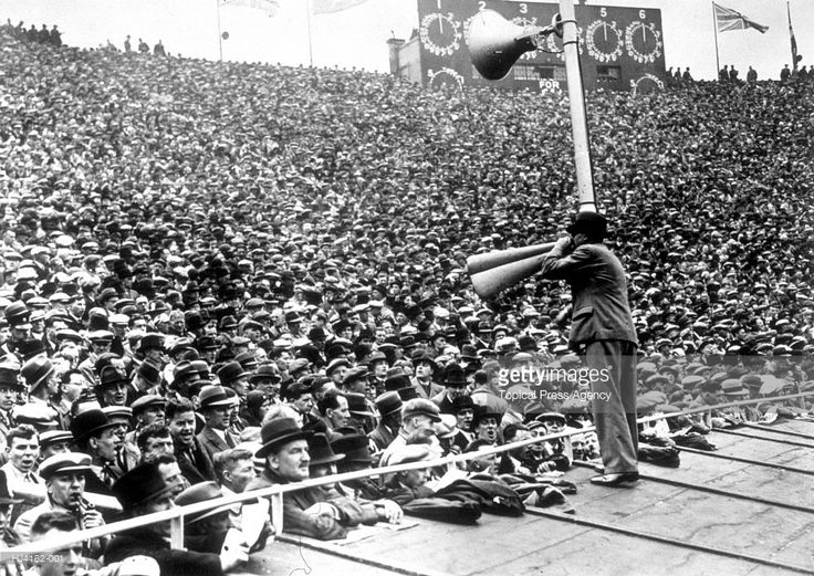 Crowds at the FA Cup Final between Arsenal and Sheffield United at Wembley Stadium, London, which Arsenal won 1-0.