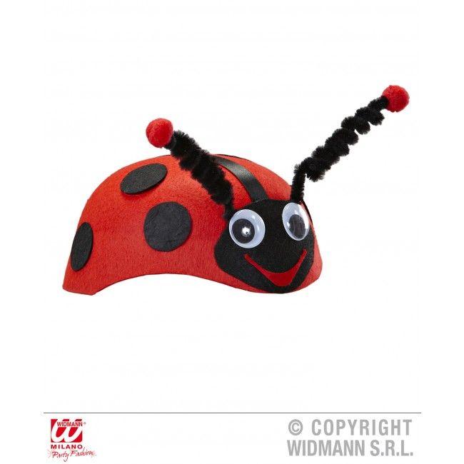 lieveheersbeestje hoed vilt
