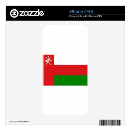 #Low Cost! Oman Flag Decals For iPhone 4S - #travel #electronics