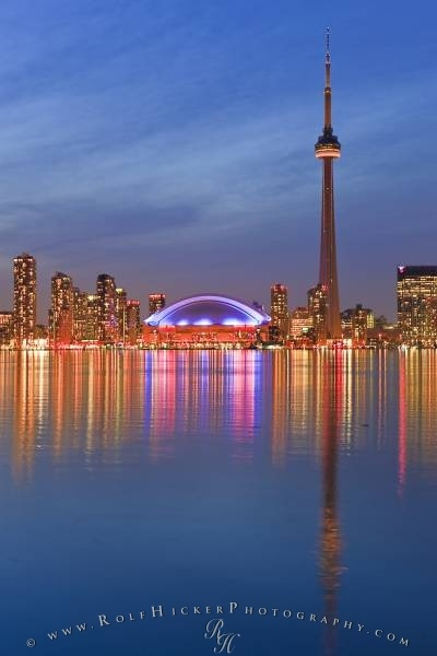 Toronto Skyline. Toronto, Canada, is located in Southern Ontario on the northwestern shore of Lake Ontario, with the original city area lying between the Don and Humber rivers.