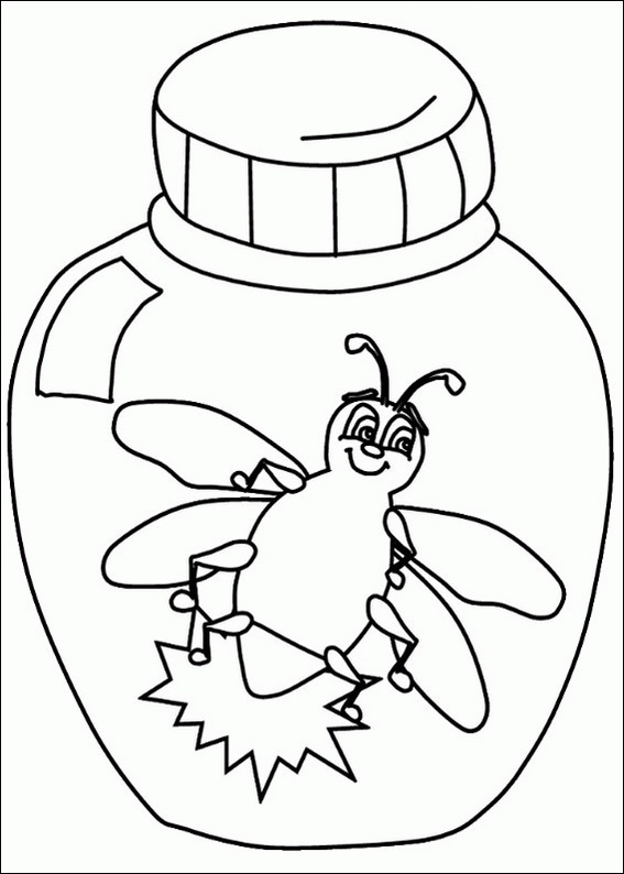 L Is For Lightning Bug coloring Page Teacher Section