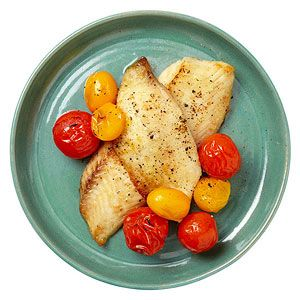 Make-Ahead Meals For Easy Family Dinners: Wednesday: Broiled Fish with Cherry Tomatoes (via Parents.com)