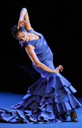 SPANISH FLAMENCO DANCER CARMEN CORTES PERFORMS ON STAGE DURING VERANOS DE LA VILLA FESTIVAL