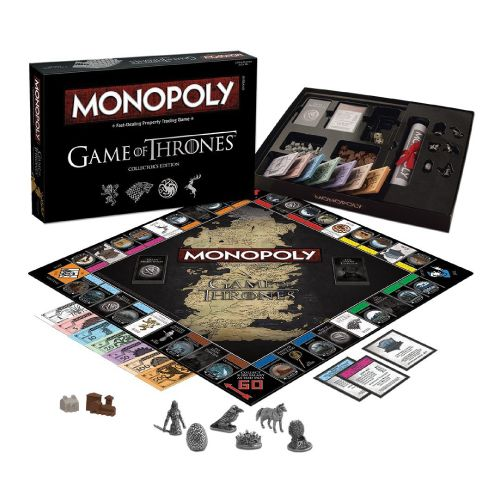 Gifts for Geeky Guys. Monopoly Game of Thrones.