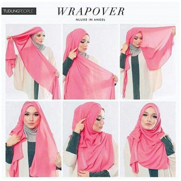 hijab segi empat menutupi dada 3