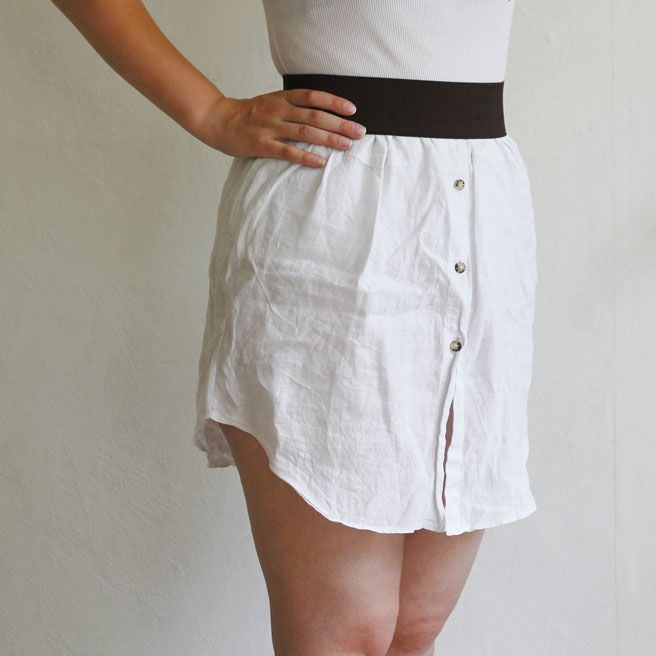 Upcycling Men's Shirt into cute skirt tutorial
