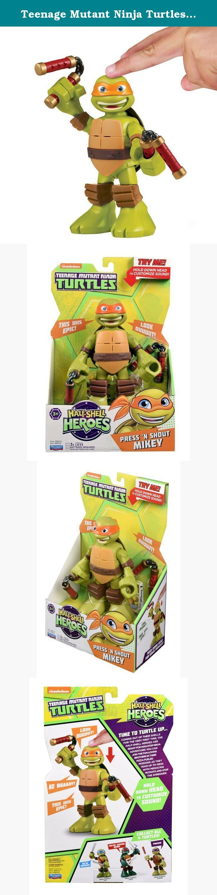 """Teenage Mutant Ninja Turtles Pre-cool Half Shell Heroes 6"""" Michelangelo Powersound Talking Turtles Figure. Coming out of their shells for the very first time, the Half-Shell Heroes are ready for non-stop ninja adventure! You can join the fun-loving brothers in their pizza-fueled missions as they team up to mess with menacing mutants and stop the Shredder."""