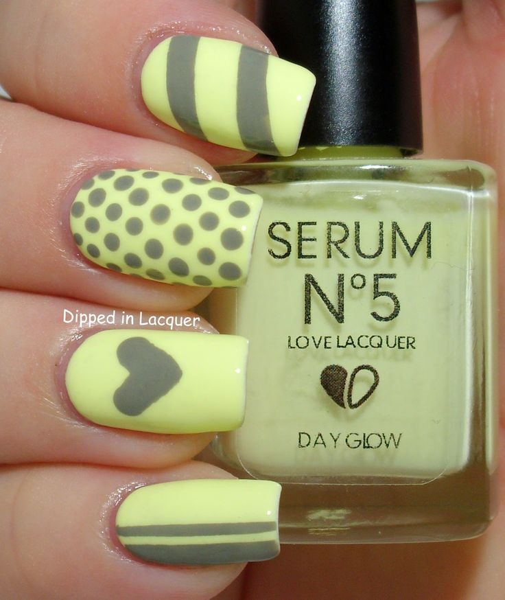 Dipped in Lacquer: Glow in the Dark Nail Art - Serum No. 5