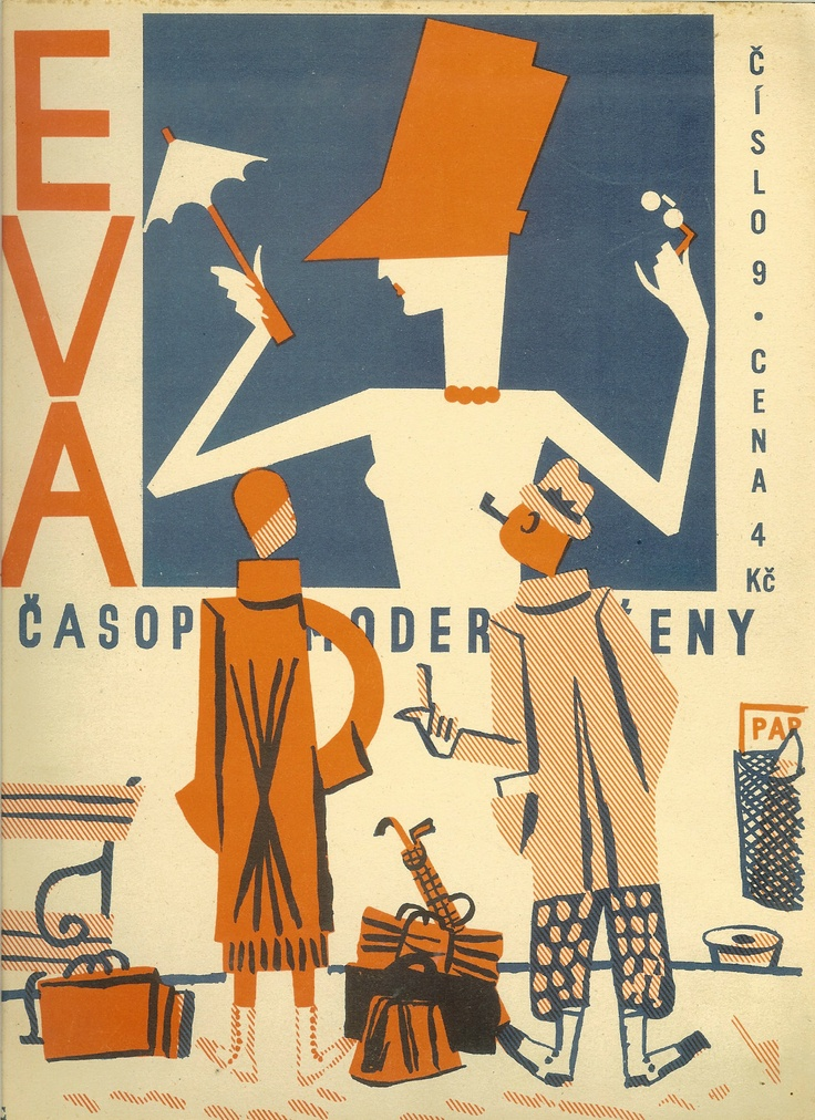 → Frantisek Tichy 1929 cover and typo for Eva magazine, Czech avant-garde | eBay