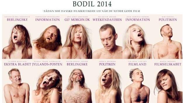 Ekstase. 'Sådan ser danske filmkritikere ud, når de nyder gode film', lyder det på kampagneplakaten for Bodil-prisuddelingen 2014. - Foto: Danske Filmkritikere