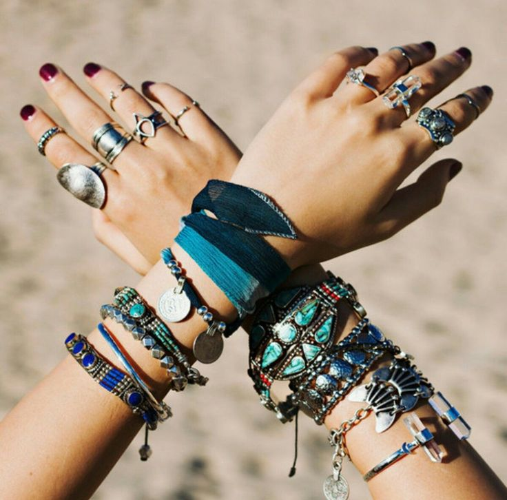the bohemian style jewelry are beautiful but there re too