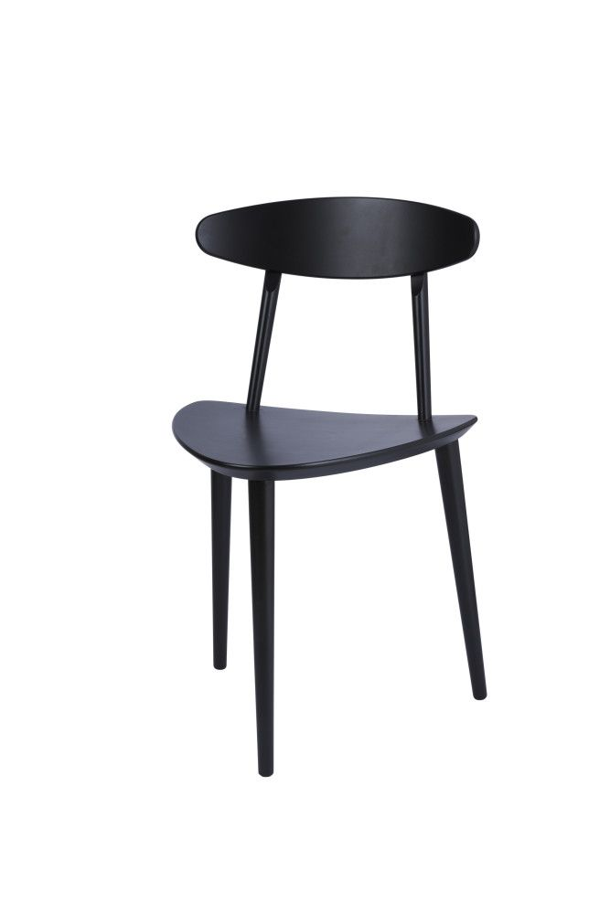 J107 Dining Chair Black by Poul M. Volther for Hay