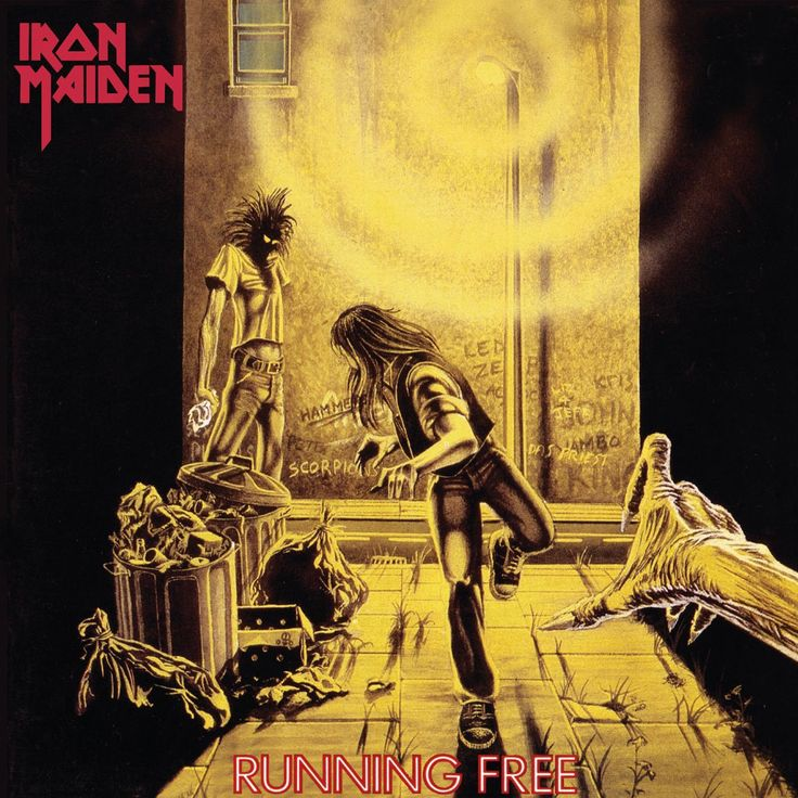 Iron Maiden - Running Free / Burning Ambition - 7 inch LP - UK Edition