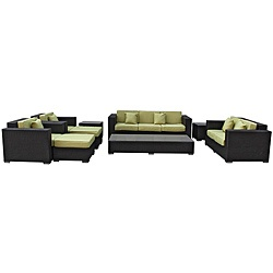 @Overstock - Update your patio decor and achieve cosmic aptitude with this empirically abundant outdoor living set. Discover more than the eye can see with Eclipse's radiant white all-weather cushions and espresso rattan base.http://www.overstock.com/Home-Garden/Eclipse-Outdoor-Rattan-9-piece-Set-in-Espresso-with-Peridot-Cushions/6673151/product.html?CID=214117 $2,799.00