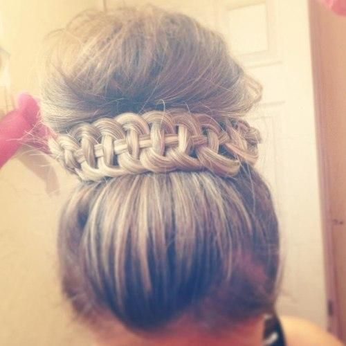 hand braid & bun galaxy  shoes love kiss hope cute me you hipster hipstergirl like fashion women girl bitch blue pink diy gif like makeup lol dress eye shorts summer winter sea sun heart celebs camera bows clothes nails vintage hair braid