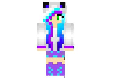 2 ways to install  Turquoise Panda Girl 2 Skin #minecraft #skins | http://niceminecraft.net/category/minecraft-skins/