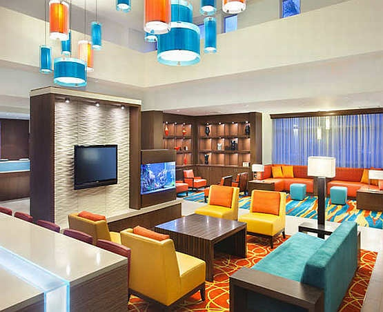 This is the swankiest living room blue orange pinterest orange living rooms the o 39 jays - Blue and orange living room ...