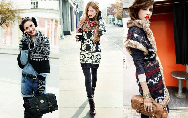 wzorzyste swetry