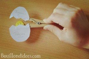 DIY bricolage Pâques Poussin épingle ou pince à linge