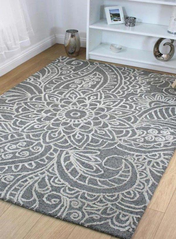 Regent Debden Grey Wool Area Rug
