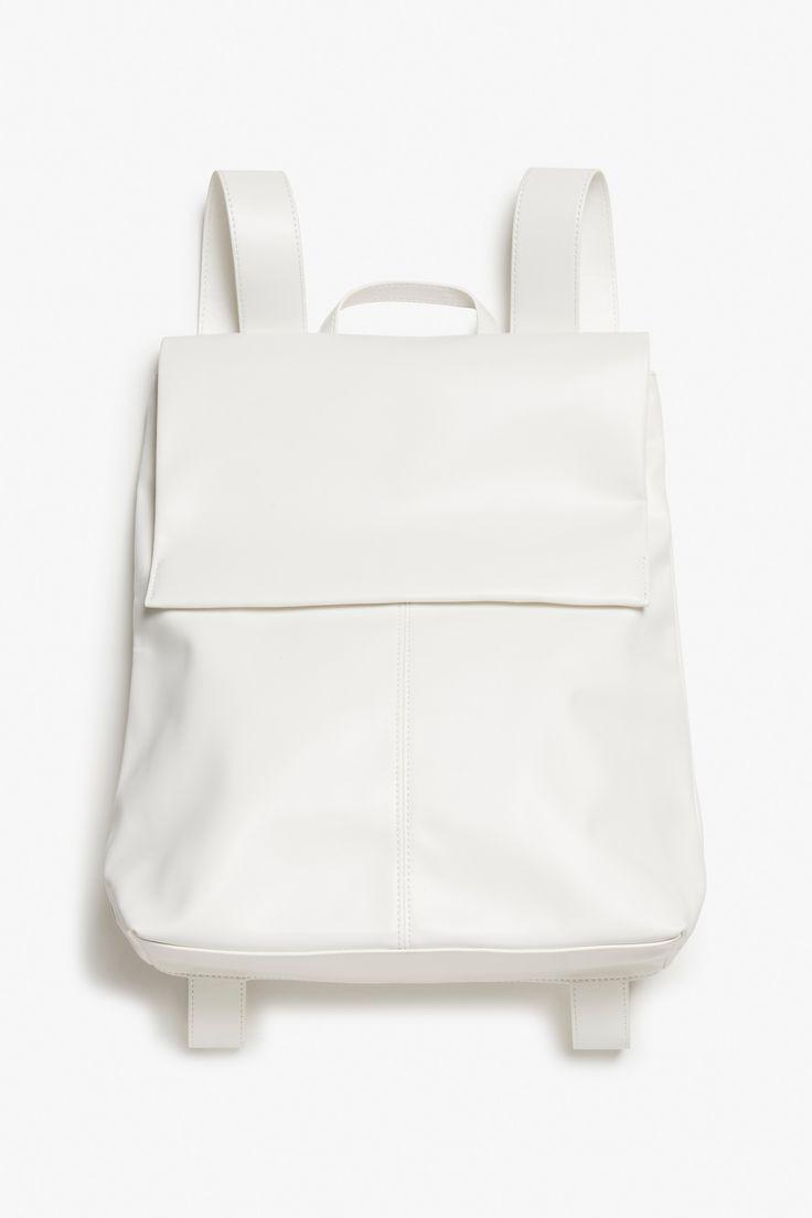 Minimal Backpack - white simplicity, minimalist fashion accessories // Monki