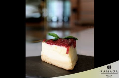 At our Lobby Cafe, who would you like to share a slice of raspberry #cheesecake with?