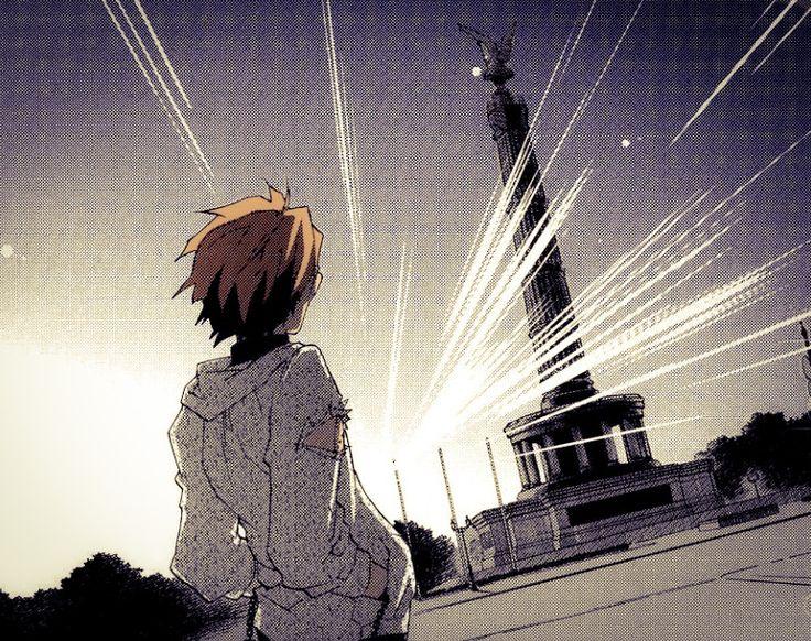 "Ookami ga Kuru >Sirius standing by the ""Siegessäule"" (A famous sight in Berlin)"