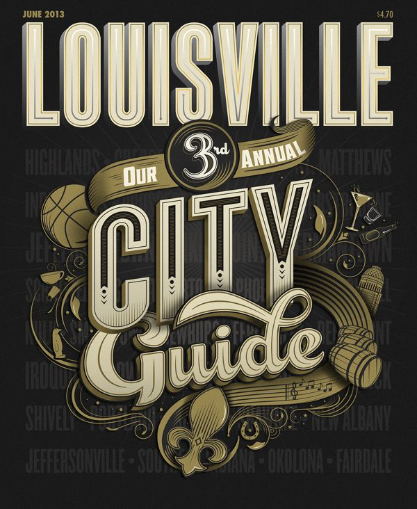 Cover for Louisville Magazine's City Guide by Bryan Todd, via Behance