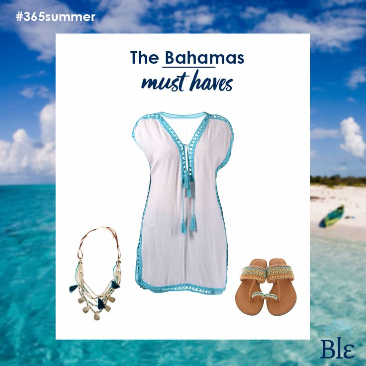 Summer destination #2… the Bahamas! Explore this exotic paradise by wearing your Ble resort collection favourites: kaftan-sandals-pretty necklace. Find them here www.ble-shop.com