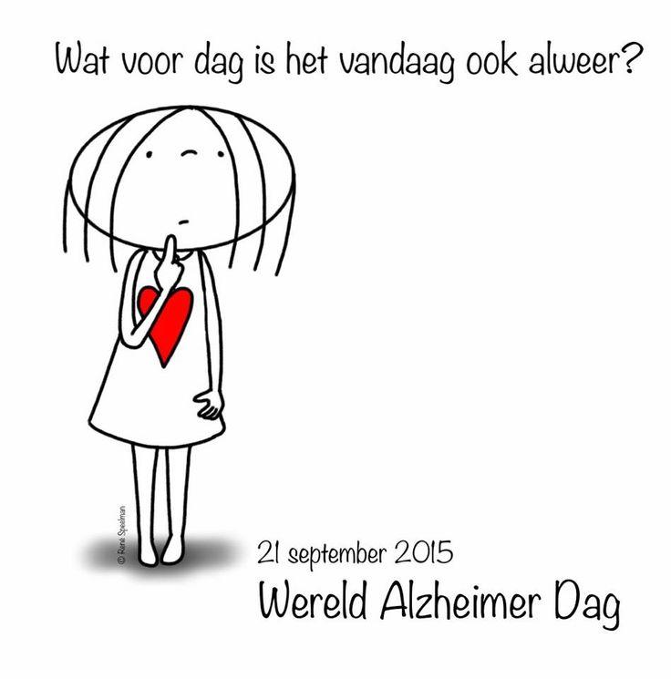 """""""Wat voor dag is het vandaag ook al weer? 21 september 2015 Wereld Alzheimerdag"""" - Jabbertje"""