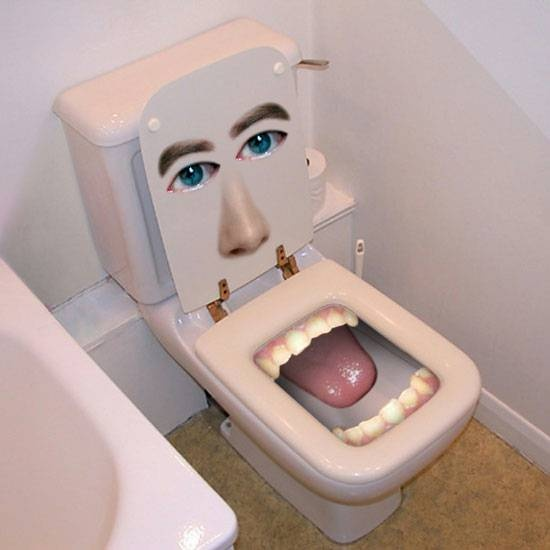 sensing a theme in bathroom fictures and teeth