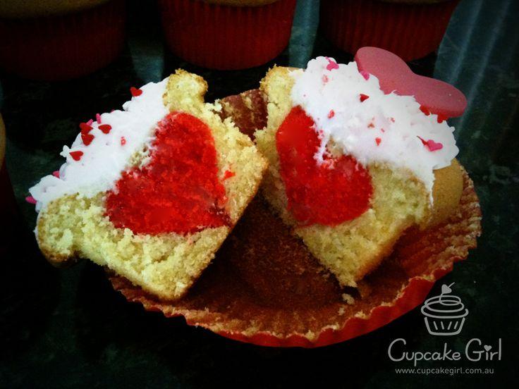 Heart Center Cupcakes
